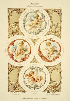Decorative ornaments - cupids