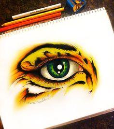 Eye have courage Original ART 8x10 by michellecuriel on Etsy, $64.99