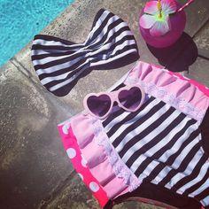 Retro Barbie Suit  Bikinis, Swimwear, Barbie, Suits, Retro, Instagram Posts, Summer, Fashion, Bathing Suits