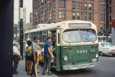 Take a ride back in time on the green and cream CTA buses, trains, trolleys and horses from Chicago's public transportation past.