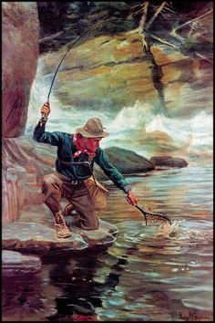 "Phillip R Goodwin ""Fisherman in Canyon"""