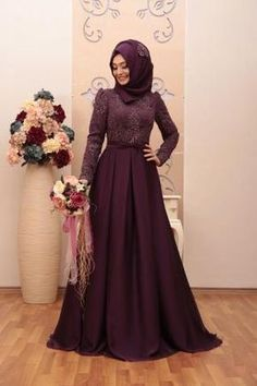 Tesettür ABİYE modelleri - Setr-i Nisa Arab Fashion, Islamic Fashion, Muslim Fashion, Hijab Gown, Hijab Dress Party, Mode Abaya, Modele Hijab, Bridal Hijab, Muslim Dress