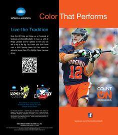 Live the tradition! #CountOnKonicaMinolta #KonicaMinolta #lacrosse #BigCityClassic #Faceoff