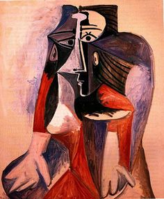 Seated Woman Jacqueline - Pablo Picasso 1960