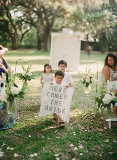 """""""Here Comes The Bride"""" can not get any cuter than this..."""