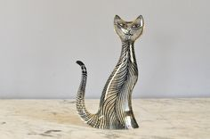 Vintage Mid Century Modern Abraham Palatnik Op Art Lucite Tall Cat by HotCoolVintage on Etsy