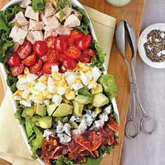 Cobb Salad with Green Goddess Dressing Recipe | MyRecipes.com