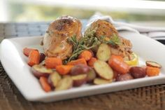 A homemade meal in under an hour is within reach with this one-pan wonder from Chef Fabio! Bone-in chicken breasts are the star of this simple recipe, cooked with a side of perfectly roasted root vegetables. With a dish this easy, there's no reason for
