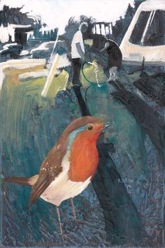 "Saatchi Online Artist: Philip Ryland; Oil, 2012, Painting ""Robin."""