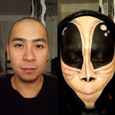 Costume makeup by Stay True Beauty. Our version of a #martian #alien #Halloween2014