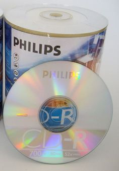 10 Pcs Philips Brand 52X Logo Blank CD-R CDR Disc Media 700MB with Paper Sleeves #HP