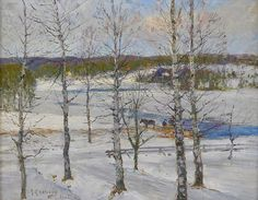 Winter Landscape. Larsson was born on May 28, 1853, in Prästgatan No. 78, a house on the Tyska Stallplan in Gamla stan, the old town in Stockholm. His parents were extremely poor, and his childhood was not happy. Carl's strong artistic talent had emerged early in his life. When he was 13 years old, his teacher at the school for the poor had persuaded him to apply for enrollment at Principskolan, the preparatory department of the Royal Art Academy.