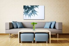 Japanese Maple Leaves Photo on CANVAS Minimalist Home or Office Decor White Blue Grey Autumn Wall Art Ready to Hang 8x10 8x12 11x14 12x18 16x20 16x24 20x30. Maple leaves altered to a soft blue / gray showcase the structural grace of nature all year long. Title: Faded Fall This canvas will be carefully shipped to you from my USA professional canvas lab in sturdy moisture-resistant packaging. You will receive a signed Certificate of Authenticity from me under separate cover. The images of...