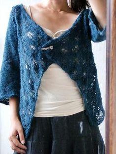 yuchikosan's Diagonal Lace Jacket