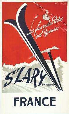 St. Lary - Pyrénées - 1956 - (Jean Gayon) -