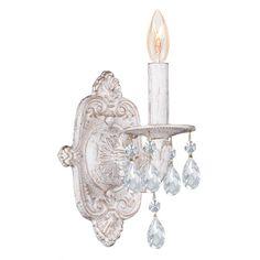 Crystorama Sutton 1 Light Candle Wall Sconce & Reviews | Wayfair
