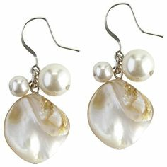 Mother-of-Pearl Earrings - Ivory