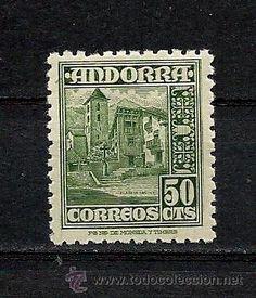 ANDORRA 1948,TIPOS DIVERSOS, FIJASELLOS, Nº 51. EDIFIL (Sellos - España - Dependencias Postales - Andorra Española)