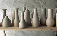 Unika handmade ceramics from Tortus Copenhagen before glazing.