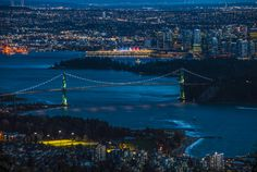 vancouver nights - Cityscape just after dark. After Dark, Cityscapes, Vancouver, River, Night, Prints, Outdoor, Outdoors, Rivers