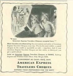 Advertising art by Richard Taylor. Selling American Express Travelers Cheques in the New Yorker Richard Taylor, One Thousand, The New Yorker, Art Blog, Old Things, Advertising, Cartoon, Sayings, American