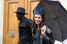 thenycstreets:  Marie Meyer after Jean Paul Gaultier Couture FW14  (via On The Street: Couture Day 4 - Of The Minute)