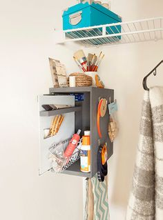 6 Home Organization Ideas (Using Cabinet Hardware)