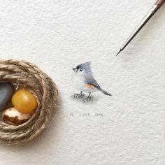 Les mini peintures danimaux de Irene Malakhova  Dessein de dessin
