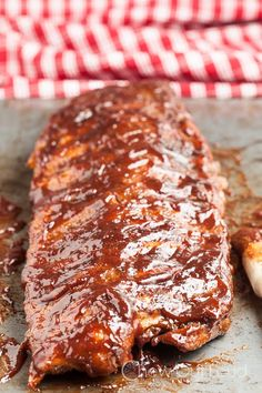 Barbecue Baked Ribs - covered in a dry rub  refrigerated overnight, this recipe is a great make - ahead dish.