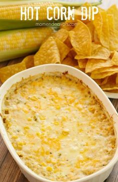 Hot Corn Dip Football Game Day Ideas This cheesy delicious hot corn dip is sure to be a win at your next football tailgate or party! Football season is back again! College Football Saturdays in the fall are a tradition for us! Appetizer Dips, Yummy Appetizers, Appetizer Recipes, Game Day Appetizers, Mexican Food Appetizers, Corn Dip Recipes, Mexican Food Recipes, Fiesta Corn Dip Recipe, Fiesta Dip