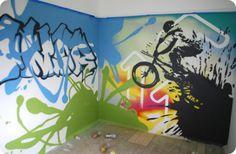 Extreme Grafitti Murals Bedroom Design  Wall Murals Grafitti Bedroom Design Ideas