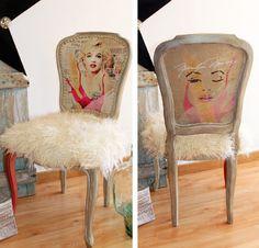Marilyn Monroe inspired fluffy chair by La Shenda Deco, Barcelona
