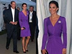 This is a lovely purple #dress that Kate Middleton is wearing!!! I would totally wear this.