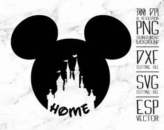 Disney Mickey head castle Clipart /PNG /transparent/ 300dpi /DXF file / svg files / cut files