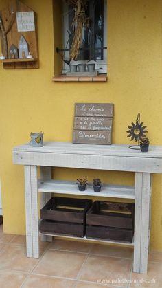 Table Console En Bois De Palette Et Peinture Recycle Ideas For The