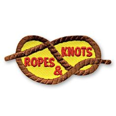 1 1/4 x 2 1/2 Inches **IRON-ON backing for easy & Snappy application** Learning how to use ropes and knots is a great skill to teach the children in your youth group or troop. Our Rope & Knots fun patch is a super way to preserve the memories of this fun learning activity. http://www.snappylogos.com/Ropes-Knots-Fun-Patch/productinfo/3272/