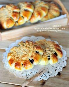 달콤함을 두배로 즐기는[소보로 단팥빵]..소보루만들기,빵만들기 : 네이버 블로그