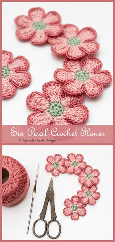 This is a free and easy crochet flower pattern with step by step photo tutorials and written instructions. Pattern is very easy to work up, only 3 rounds which allow you to use all the color combinations that you are able to imagine. Cute Crochet, Crochet Crafts, Crochet Projects, Crochet Doilies, Knit Crochet, Crochet Designs, Crochet Patterns, Crochet Flower Tutorial, Easy Crochet Flower