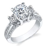 Engagement Rings - Engagement Rings-----I like this but why does it have to be double stranded??