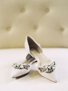 Glam wedding flats: http://www.stylemepretty.com/little-black-book-blog/2015/06/29/contemporary-multi-cultural-wedding-at-the-carolina-inn/ | Photography: Perry Vaile - http://perryvaile.com/