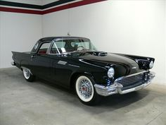 1957 Ford Thunderbird  Price: $42,900 VIN: D7FH334645  Stock #:     8 Cylinders RWD Coupe  Transmission: Automatic  Color: Black  59,431 miles
