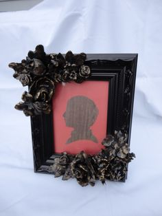 plaster-dipped silk flower picture frame