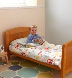 All Aboard Adventure Gro To Bed for Cot Beds £49.99 - clever stay-on bedding for toddlers. Stops them falling out of bed!