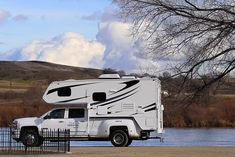 Truck campers are the ultimate Go Anywhere, Camp Anywhere, Tow Anything RV. Forget motorhomes and trailers. Fun, freedom, and adventure await! Slide In Truck Campers, Rv Campers, Tow Truck, Camper Trailers, Camper Van, Travel Trailers, Pickup Trucks, Rv Bus, Pickup Camper