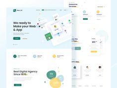 Digital Agency Web UI Concept by Madhu Mia for iSketch Studio on Dribbble Homepage Design, Web Ui Design, Best Web Design, Real Estate Landing Pages, Web Development Agency, Creer Un Site Web, Ui Design Inspiration, User Interface Design, Digital