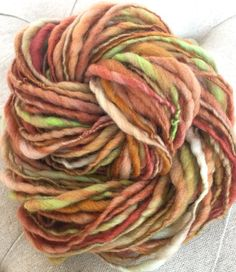 Handspun Yarn Thick and Thin AUTUMN DAY bulky by TerraBellaSpun