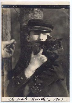Unknown sailor with black cat