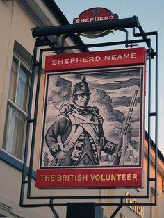 British Volunteer Pub Sign,  Ashford
