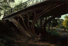 Sinuous Art Nouveau bridges in central park