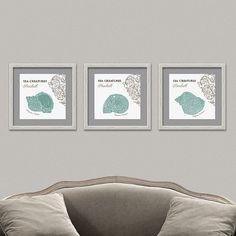 SEA SHELLS Triptych Wall Decor Printable Digital by OopsyIdeas